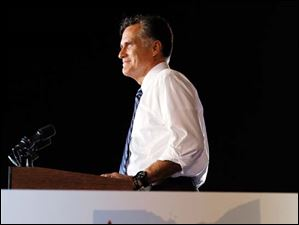 Republican presidential candidate Mitt Romney speaking.
