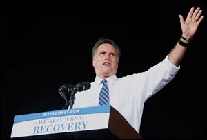 GOP presidential nominee Mitt Romney was in Defiance on Thursday and stayed the night in Toledo.