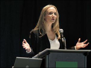 Alexandra Cousteau speaks at the GreenTown: The Future of Community event at the Seagate Convention Centre in Toledo.