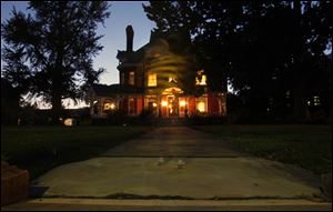 A ghostly image of reporter Kirk Baird appears at the Mansion View Inn, 2305 Collingwood Boulevard.