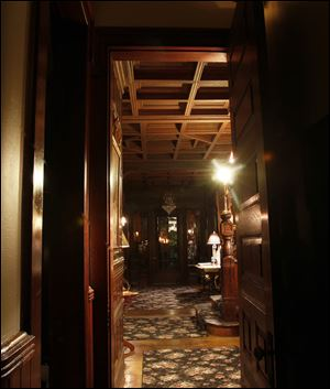 The hallway in the Mansion View Inn.
