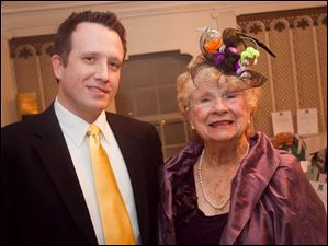 Jim Tinker, with his aunt, Toledo Ballet founder Marie Vogt, at the Blue Moon Ball.