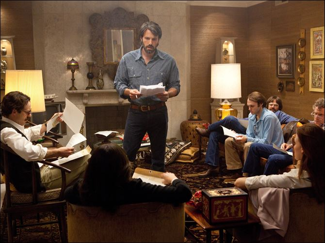 Film Review Argo Ben Affleck stars as CIA agent Tony Mendez, center, in 'Argo,'  a rescue thriller about the 1979 Iranian hostage crisis.
