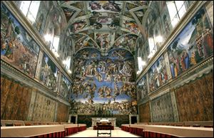 Vatican official sees no need to limit visits to Sistine Chapel to preserve frescoes.