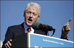 Former President Bill Clinton has been making appearances across the country in support of President Obama.
