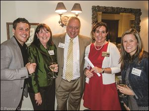 NAMI Board Members, Bruce Boerst, Jr. and Jill Draheim Ducey, Peter Kanios, Friend of NAMI, Robin Isenberg, Executive Director, and Sara Boerst, Friend of NAMI.
