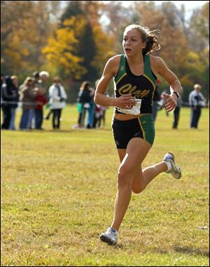 Erin Gyurke of Clay placed second at the Division I regional with a time of 18:42.38.