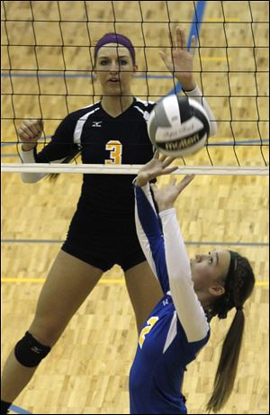 Madelyn McCabe, a junior, is third in digs (294) and second in service aces (30) for the Arrows.