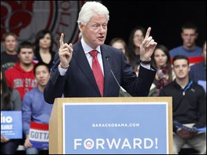 Former President Bill Clinton speaks.
