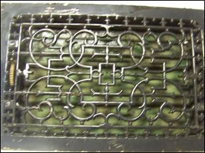 This cast iron ornate floor register was among the few relics saved from the Seneca County Courthouse and is being raffled off this weekend.