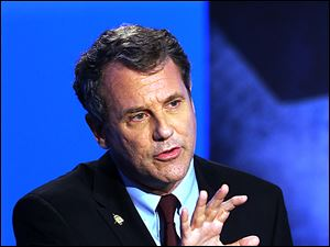 U.S. Senator Sherrod Brown said he will return to trying to pass legislation aimed at restricting independent groups' spending during political campaigns.