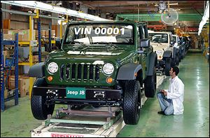 Chrysler has a joint venture in Cairo, where knock-down kits of the Jeep Cherokee, Jeep Wrangler Unlimited, and a military-purpose Jeep J8 are assembled, but production is low.