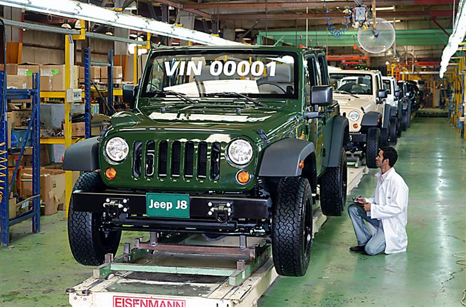 Worldwide Clamor For Jeep But Most Vehicles U S Made