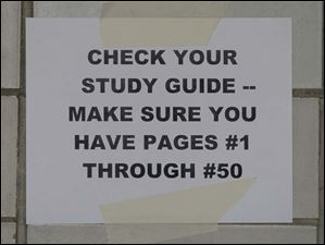 The department offers a study guide for the test which is scheduled for Dec. 1.