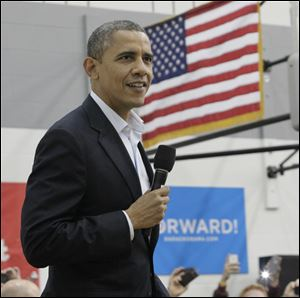 President Obama tells the 3,800 at Lima High School that Republicans and special interests are hoping voters will get fed up with gridlock and just give up.