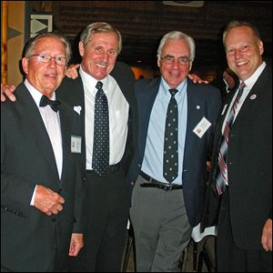 Bill Roan, Chris Krauser, Roger Holliday, and Jeff Vollmar at the Maumee Valley Region Porsche Club of America's 40th anniversary gala.