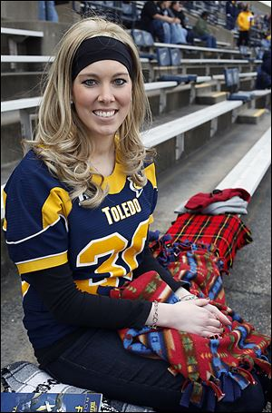 Former Toledo basketball player Ashlee Barrett has become the inspirational leader for the Toledo football team after her battle with leukemia.