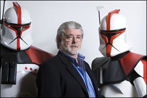 Director/producer George Lucas poses for portrait in Las Vegas.