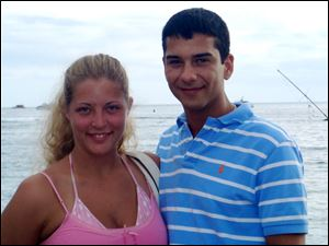 Katie and Kyle Sheppard, both 29, were married in September of 2008. Mr. Sheppard is suspected in the death of his wife, and he was arrested in Quebec, authorities say.