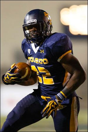 Toledo running back David Fluellen is among the nation's leaders in rushing.