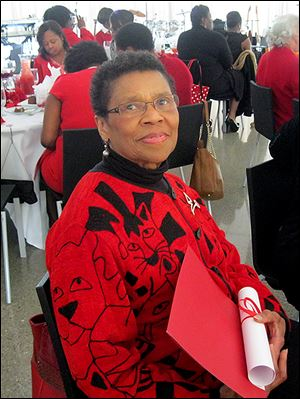 Charter memeber Jeanette Bradley attends the sorority's 40th anniversary..