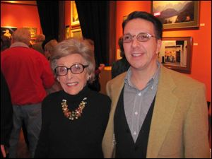 The late Edith Franklin (ceramicist, longtime supporter of Peggy and 20 North Gallery) and Doug Adams Arman.