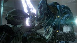 A scene from Halo 4.