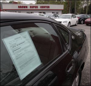 Prices for used cars are predicted to rise nationwide, including at Midwest lots such as this on Central Avenue in metro Toledo.