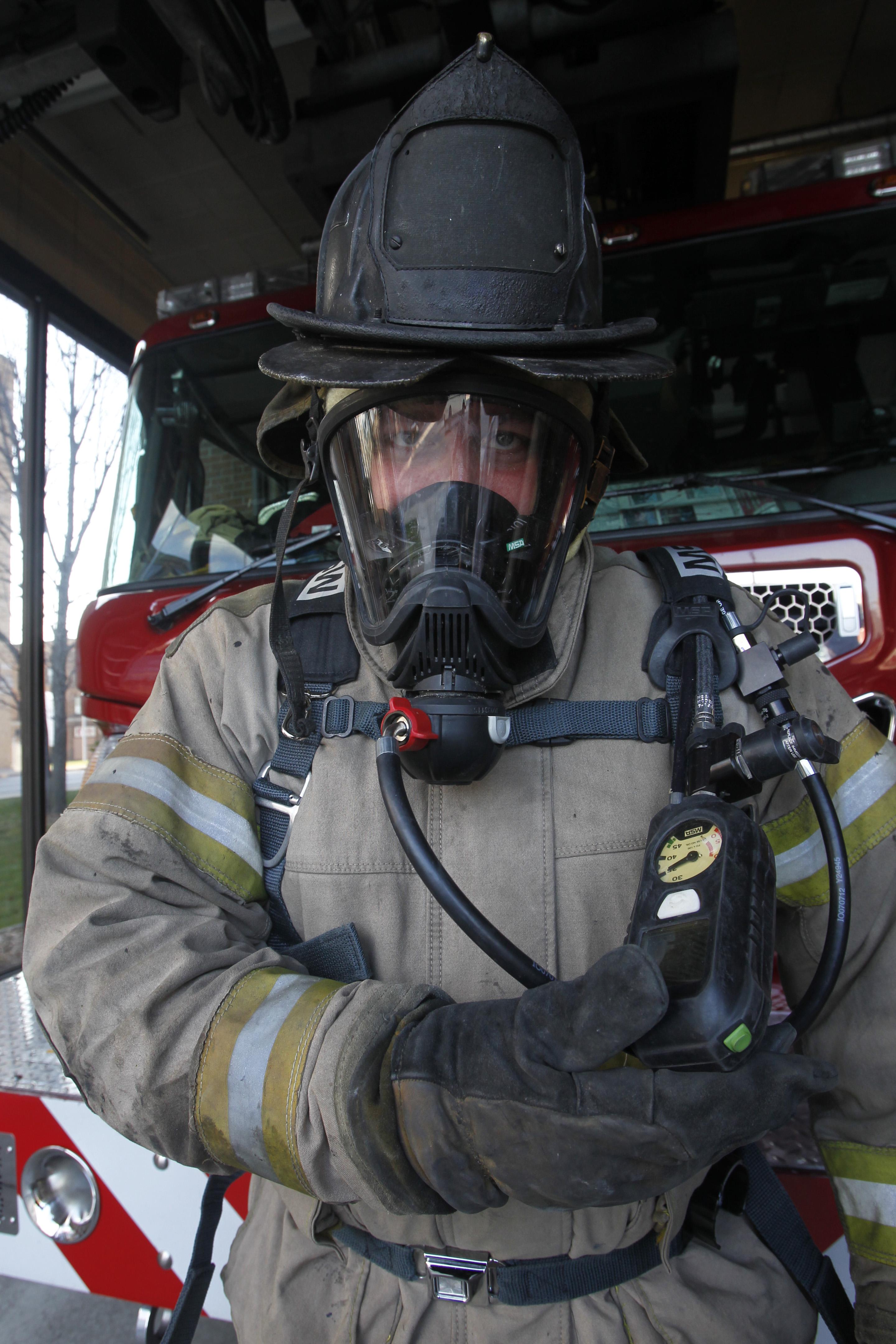 New Gear Helps Firefighters Breathe Easier