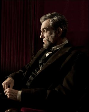 Daniel Day-Lewis portrays Abraham Lincoln in