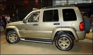 The recall includes 2002 and 2003 model-year Jeep Libertys, seen here, and 2002 through 2004 model-year Jeep Grand Cherokees