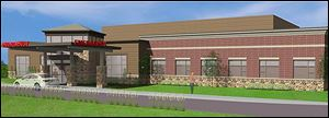 An artist's rendering of Mercy Hospital's $12.7 million emergency services and diagnostic center in Wood County.