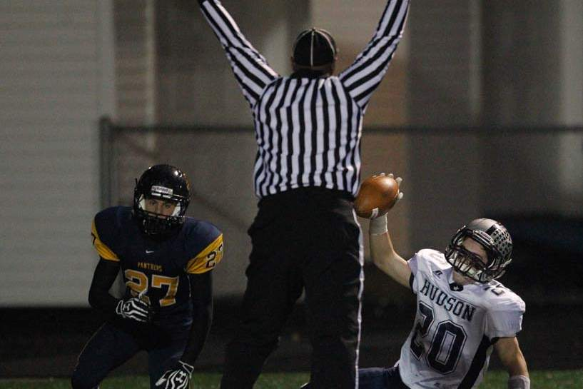 Whitmer-football-Hudson-touchdown