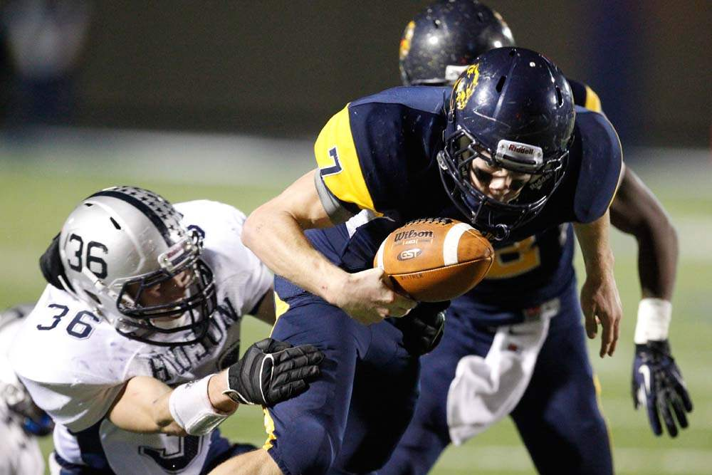 Whitmer-football-Holley-fumble