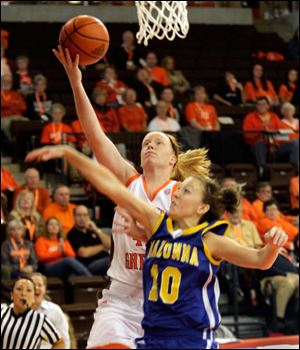 Danielle Havel had 11 points and 12 rebounds in the BGSU win.
