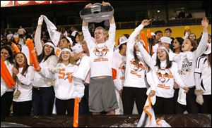 Sylvania Southview fans cheer during the match.