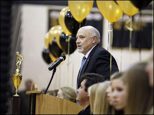 Mayor Nelson Evans talks about the success of the Perrysburg High School Girls Soccer Team.