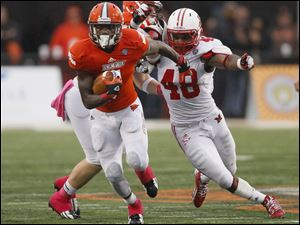 Bowling Green running back Anthon Samuel, shown in a game against Miami University last month, was named MAC East Division player of the week.