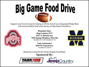 Big Game Food Drive