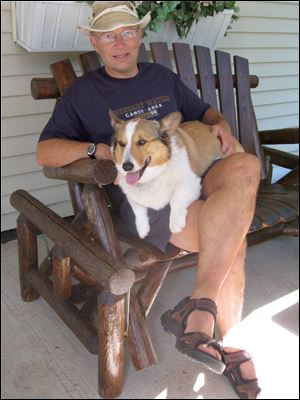 Mathematician Dr. Tim Penning and his Welsh corgi, Elvis, will be at the University of Toledo to discuss
