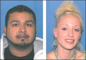 Gilberto Villarreal, Jr., left, and Natalie Rose McCoy, right.
