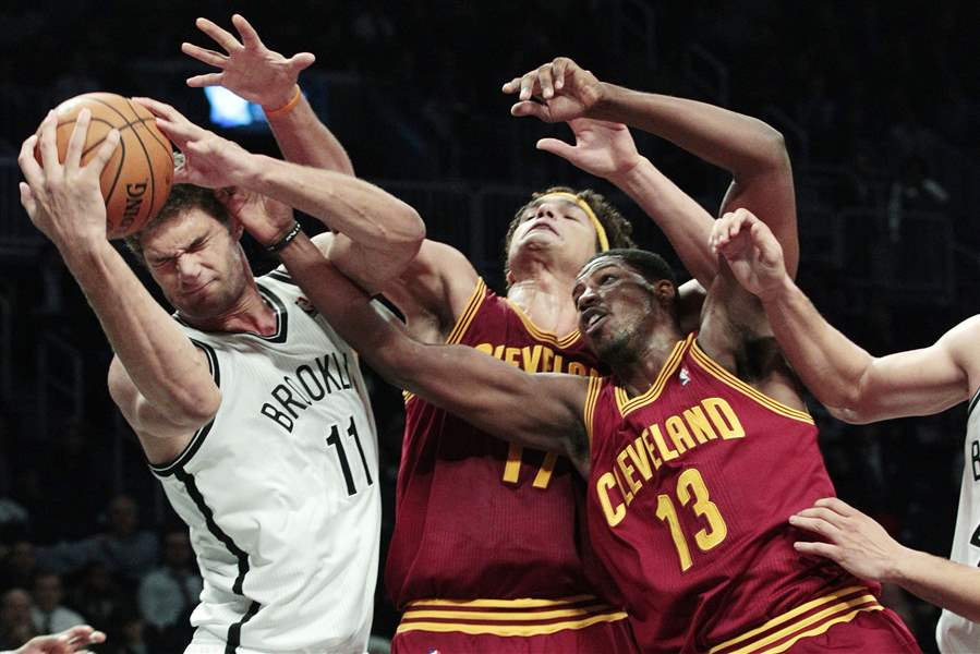 APTOPIX-Cavaliers-Nets-Basketball-Brook-Lopez