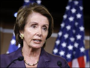 House Minority Leader Nancy Pelosi of Calif., shown in this recent photo,  announced she will seek to retain her position as House minority leader.