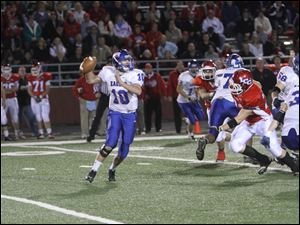 Liberty-Benton quarterback Mitch Linhart has rushed for 952 yards and passed for 1,701.
