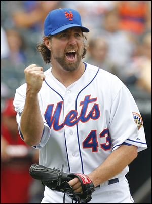 R.A. Dickey became the first pitcher who relied predominantly on a knuckleball to win the Cy Young Award.