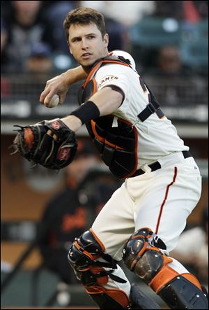 Buster Posey is the first Giants player to win since Barry Bonds was voted his record seventh MVP award in 2004. He is also the first catcher to win NL MVP since Johnny Bench in 1972.