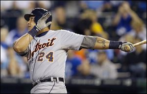 Detroit Tigers' Miguel Cabrera led the American League in hits, home runs and RBIs.