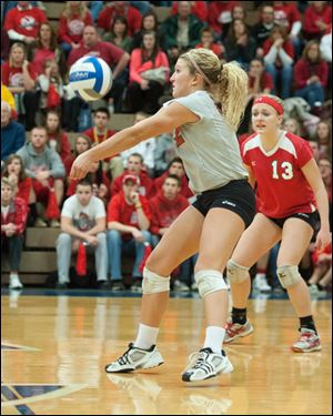 Senior libero Ellen Hays has a team-high 1,301 digs this season. She is the Mules career leader in digs.