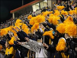 Whitmer High School fans cheer their Panthers.