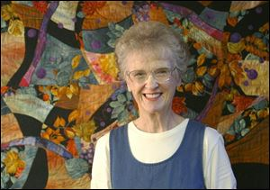 Joan Riagl of Waterville has taught quilt-making for 15 years.